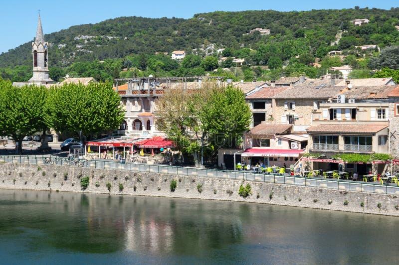 Vista panoramica del ` Ardeche di San-Martin-d immagine stock