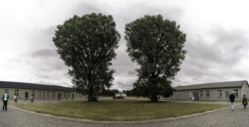 Vista panoramica del campo di concentramento di Sachsenhausen fotografia stock