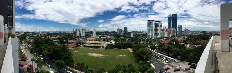 Vista panoramica del campo e di circondare della scuola in Petaling Jaya fotografia stock