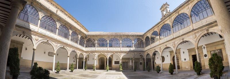 Vista panoramica del convento della cappella di San Juan Evangelista University, fotografia stock libera da diritti