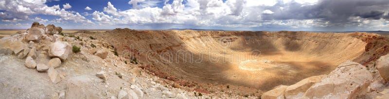 Vista panoramica del cratere della meteora - Arizona immagini stock libere da diritti