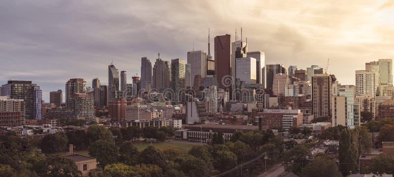 Vista panoramica del cuore di Toronto fotografia stock libera da diritti