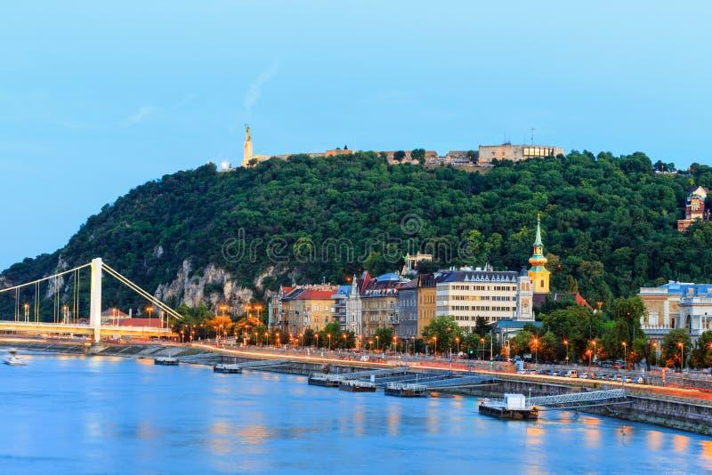 Vista panoramica del Danubio e di Budapest immagine stock libera da diritti