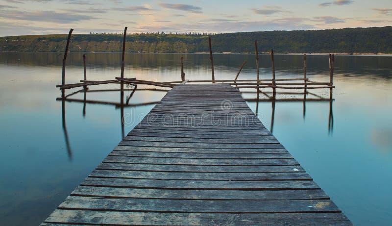 Vista panoramica del fiume Dniester fotografia stock