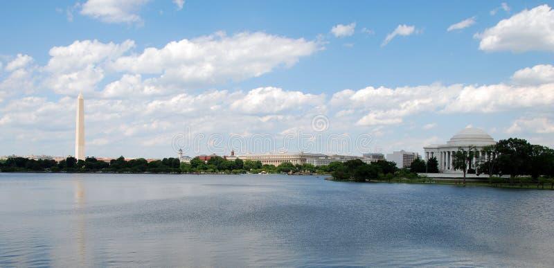 Vista panoramica del monumento di Washington fotografia stock libera da diritti
