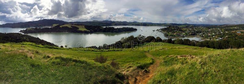 Vista panoramica del paesaggio di Taipa-Mangonui fotografia stock libera da diritti