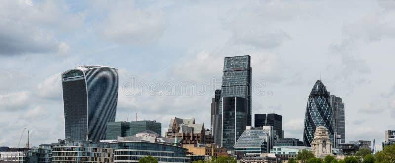 Vista panoramica dell'orizzonte di Londra immagine stock libera da diritti