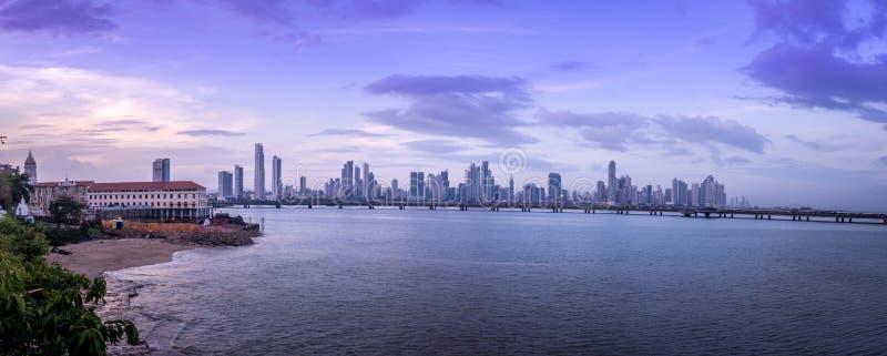 Vista panoramica dell'orizzonte di Panamá - Panamá, Panama fotografie stock