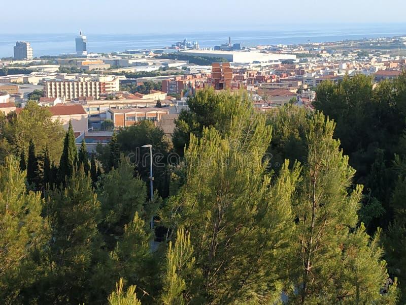 Vista panoramica della città di Mataro immagine stock libera da diritti