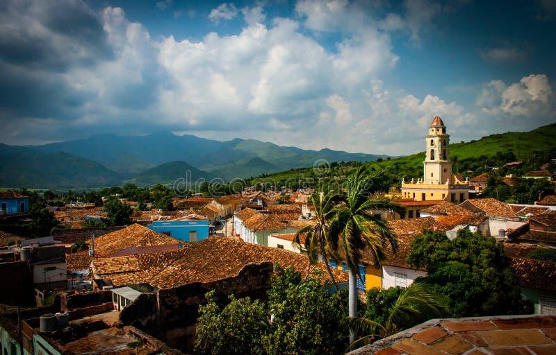 Vista panoramica della città di Trinidad, Cuba, immagini stock libere da diritti