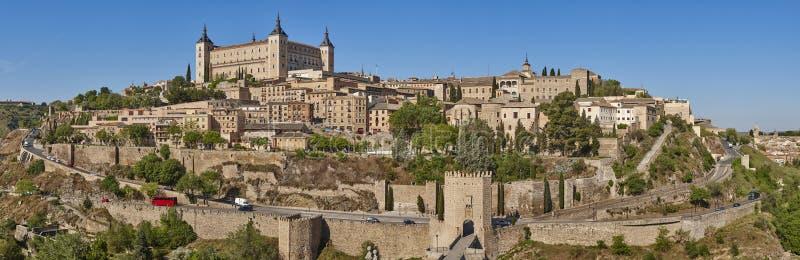 Vista panoramica della citt? medievale di Toledo Vecchia citt? tradizionale spagnola fotografie stock libere da diritti