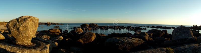 Vista panoramica della costa di Finistère fotografia stock