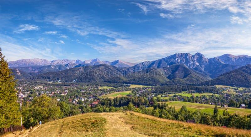 Vista panoramica della montagna di Tatra immagine stock libera da diritti