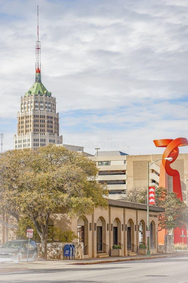 Vista panoramica della torre di vita e della torcia di amicizia immagine stock