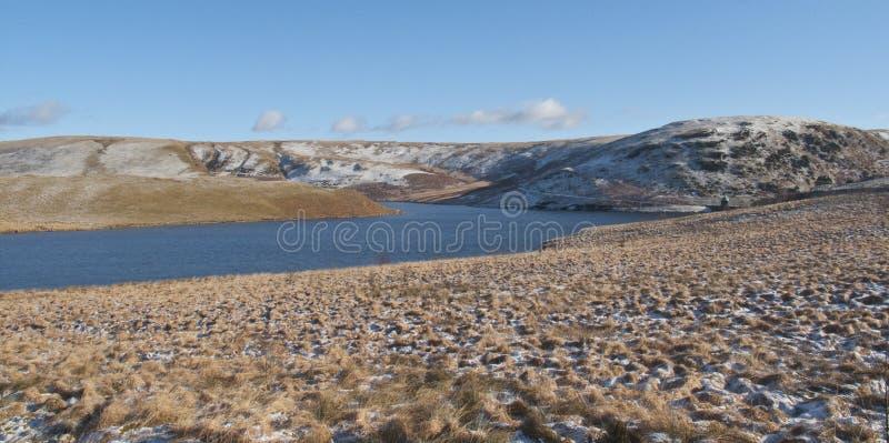 Vista panoramica della valle di slancio, Rhayader, Powys fotografie stock libere da diritti