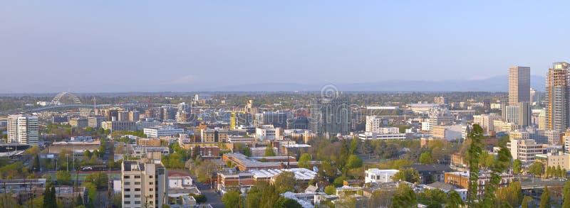 Vista panoramica della zona industriale Portland Oregon fotografia stock libera da diritti