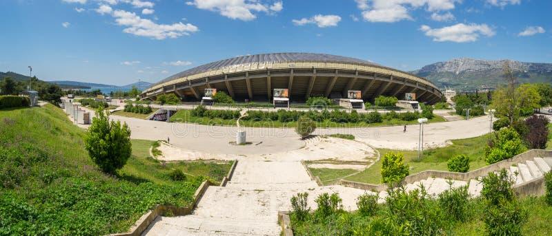 Vista panoramica dello stadio nella spaccatura, Croazia di Poljud fotografia stock libera da diritti