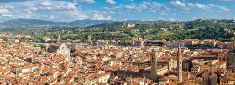 Vista panoramica di alta risoluzione della città di Firenze immagini stock