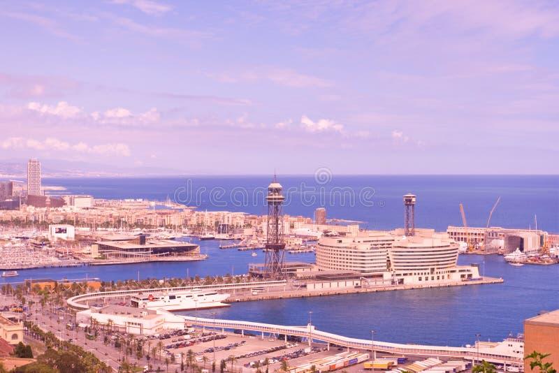 Vista panoramica di Barcellona immagini stock