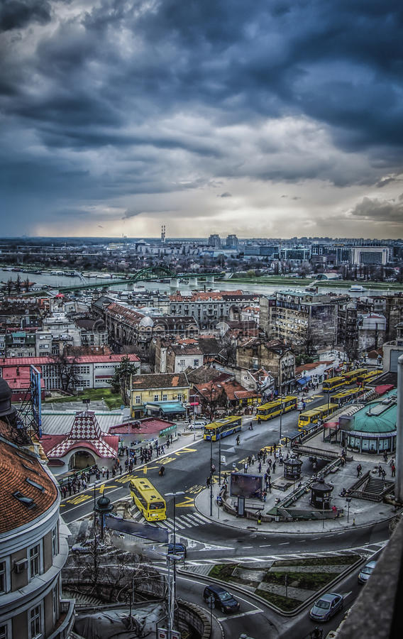Vista panoramica di Belgrado fotografia stock libera da diritti