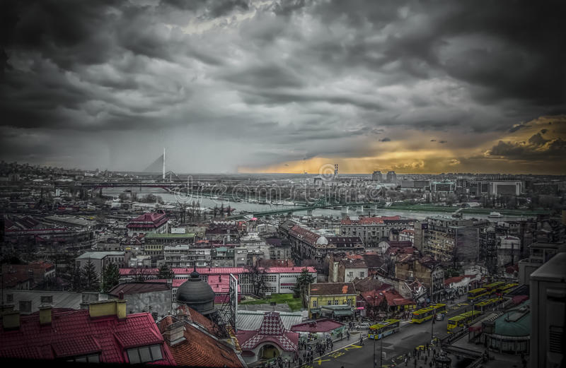 Vista panoramica di Belgrado fotografia stock