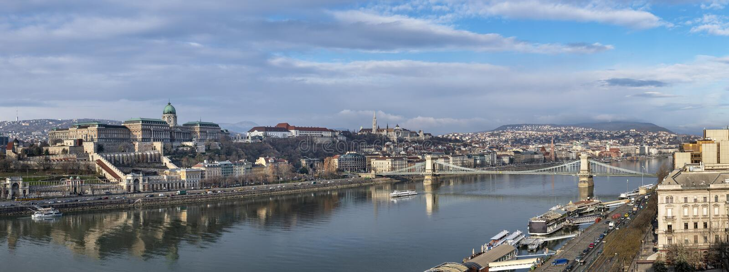 Vista panoramica di Budapest immagine stock