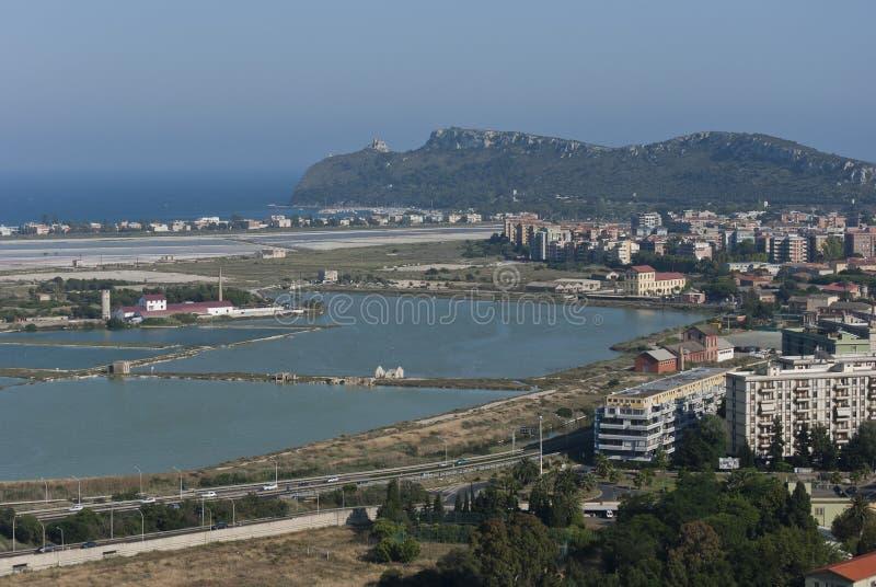 Vista Panoramica Di Cagliari Fotografie Stock Libere da Diritti