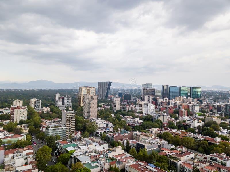 Vista panoramica di Città del Messico - Polanco Reforma fotografia stock libera da diritti