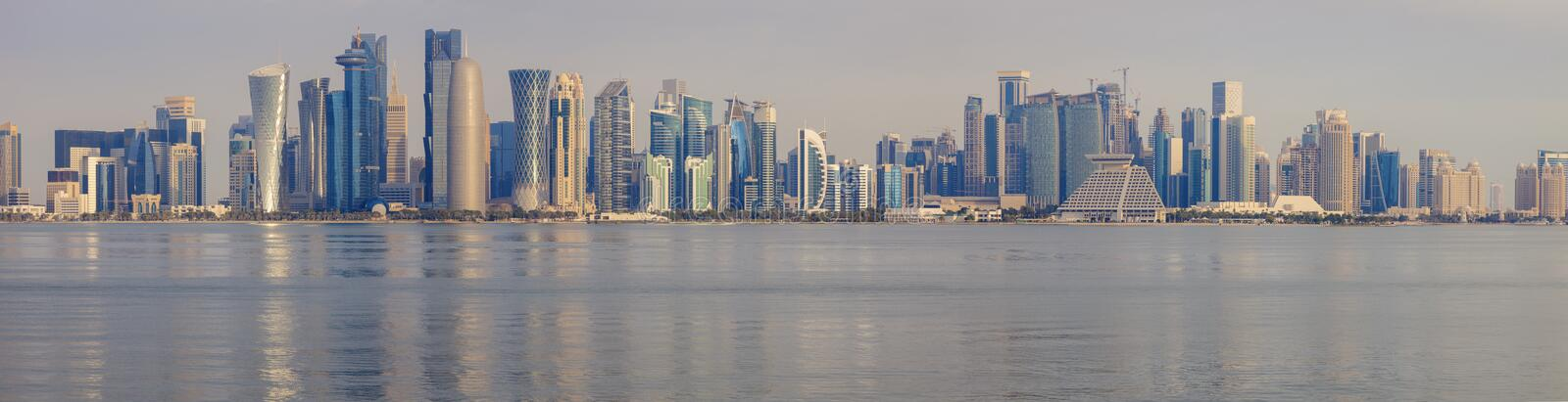 Vista panoramica di Doha immagine stock