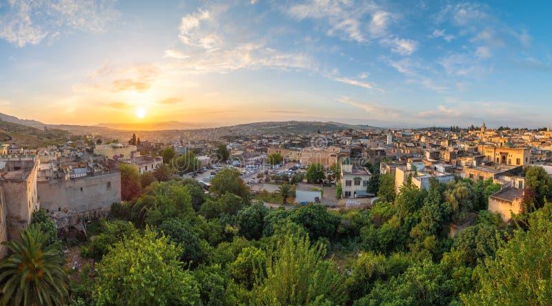 Vista panoramica di Fes fotografia stock libera da diritti