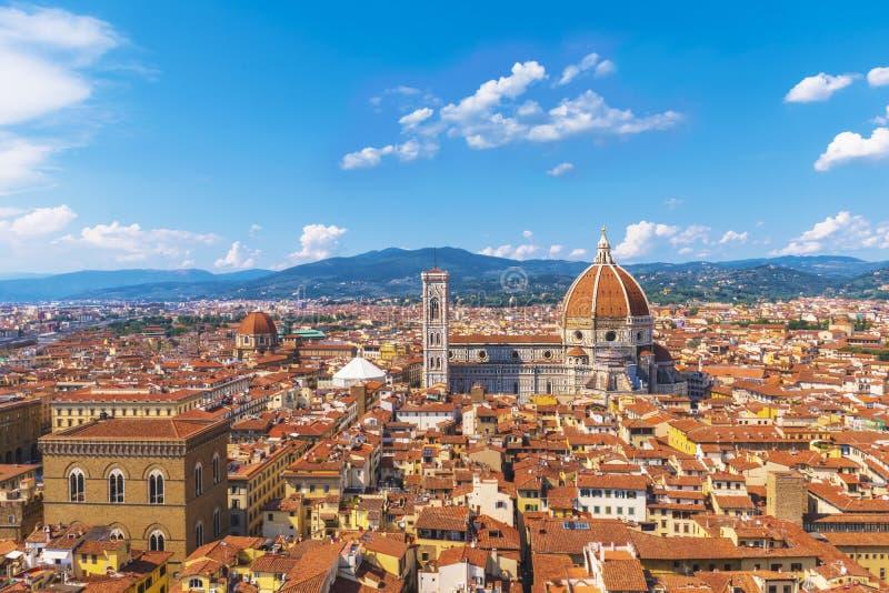Vista panoramica di Firenze Cattedrale di Santa Maria del fiore Firenze, Italia fotografia stock