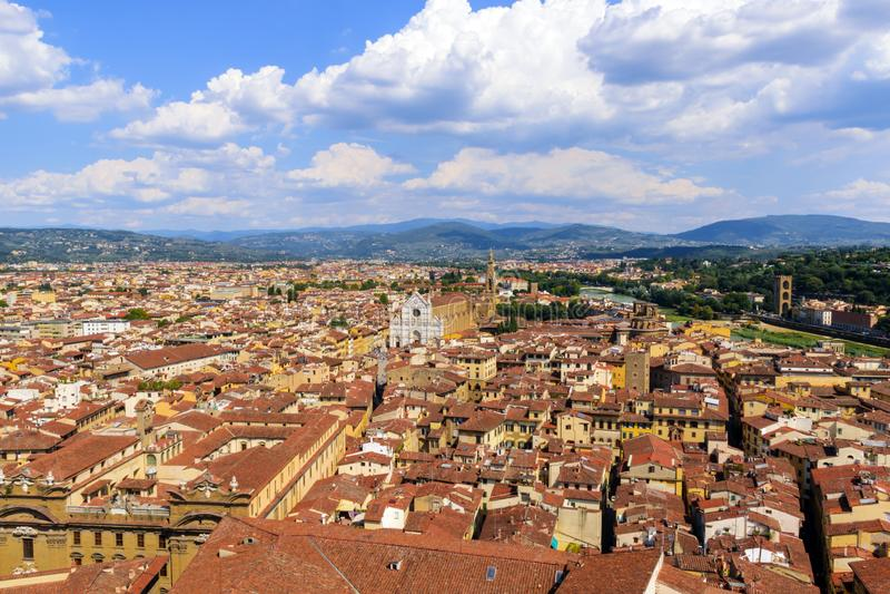 Vista panoramica di Firenze L'Italia immagine stock libera da diritti