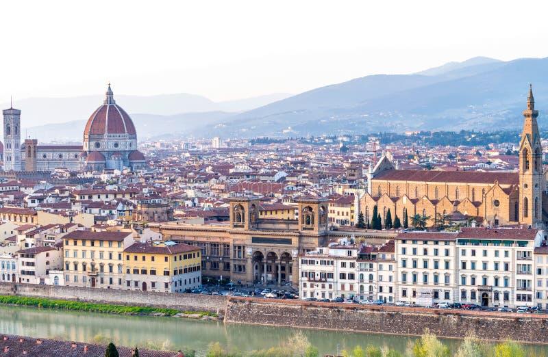 Vista panoramica di Firenze - la Toscana, Italia immagine stock libera da diritti