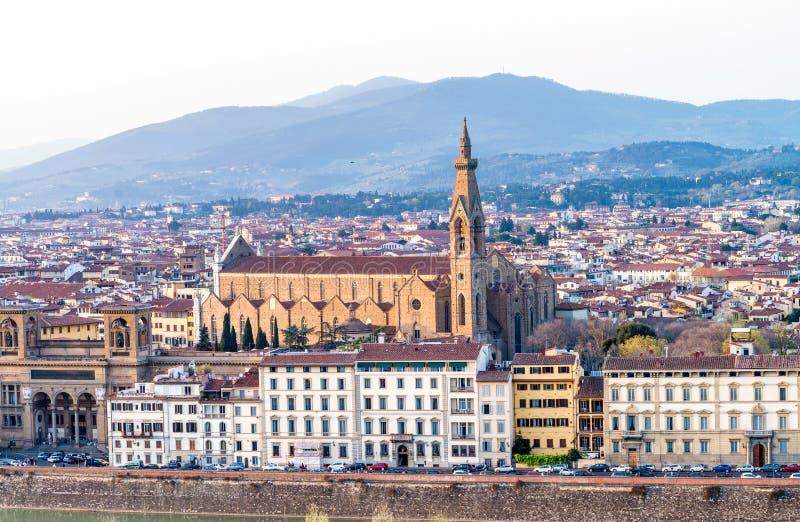Vista panoramica di Firenze - la Toscana, Italia fotografia stock libera da diritti