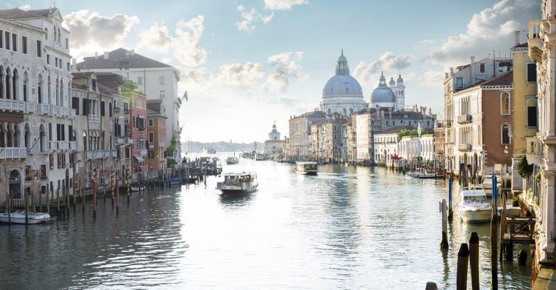 Vista panoramica di Grand Canal a Venezia fotografia stock