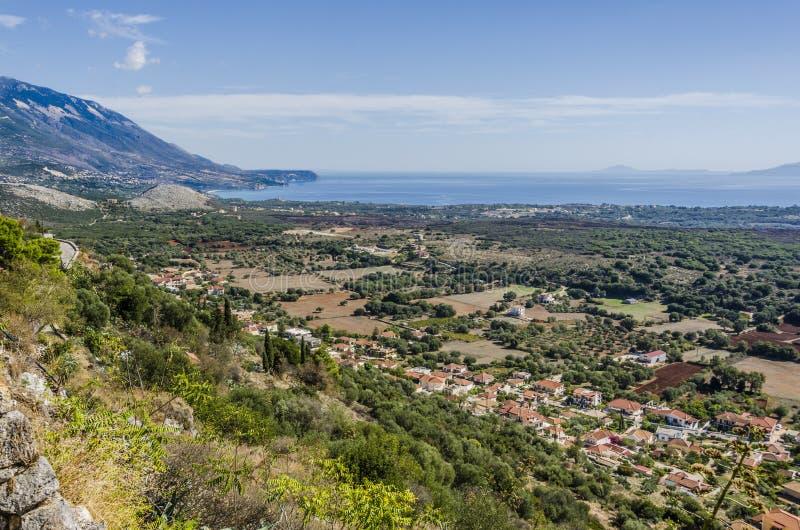 Vista panoramica di Kefalonia fotografia stock