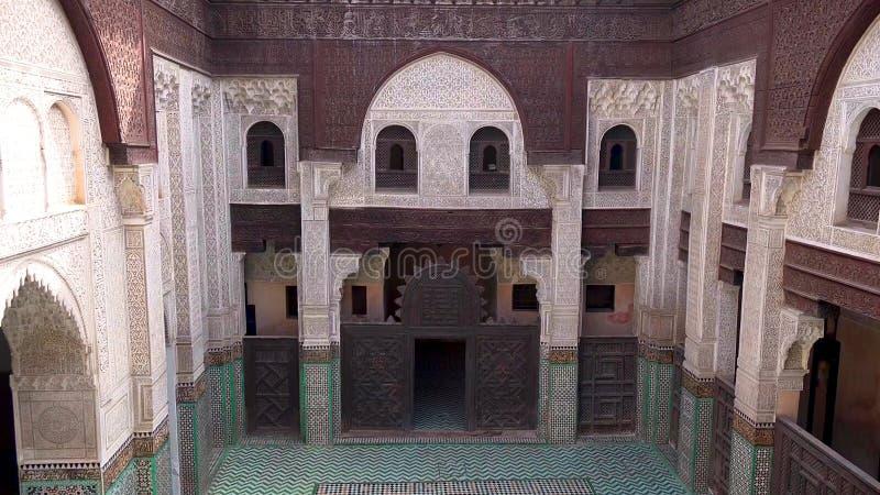 Vista panoramica di Meknes, una città nel Marocco che è stato fondato nel XI secolo dal Almoravids come stabilimento militare immagini stock libere da diritti