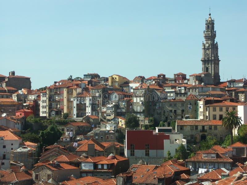 Vista panoramica di Oporto, Portogallo fotografia stock libera da diritti