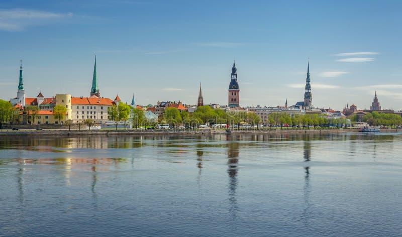 Vista panoramica di Riga fotografia stock libera da diritti