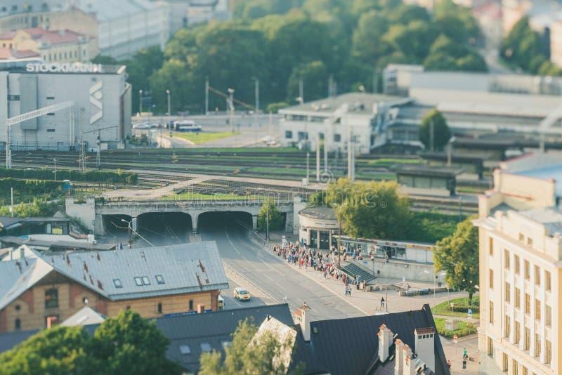 Vista panoramica di Riga, Lettonia fotografia stock