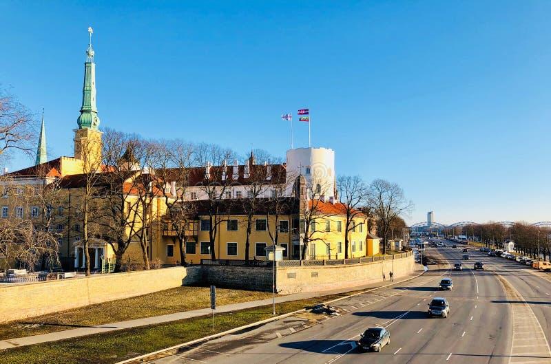 Vista panoramica di Riga, Lettonia immagini stock