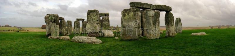 Vista panoramica di Stonehenge fotografie stock