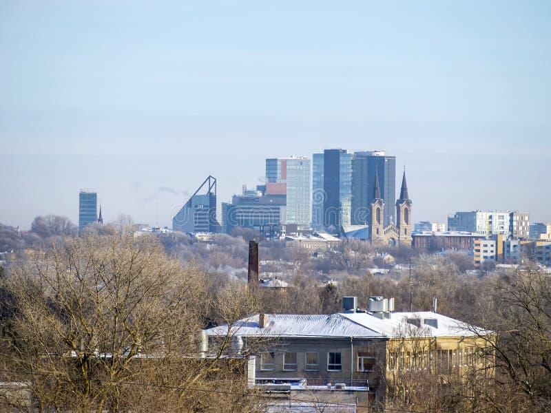Vista panoramica di Tallinn immagini stock libere da diritti