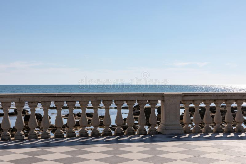 Vista panoramica di Terrazza Mascagni (terrazzo di Mascagni) fotografia stock libera da diritti