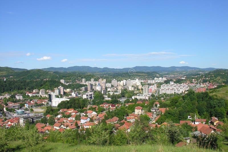 Vista panoramica di Tuzla fotografie stock