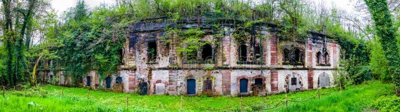 Vista panoramica di Uhrich forte, Illkirch fotografia stock