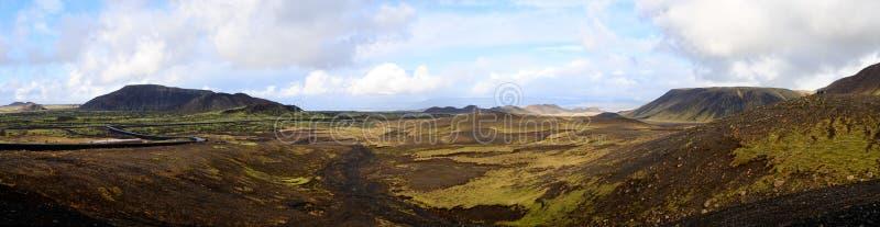 Vista panoramica di una valle fotografia stock