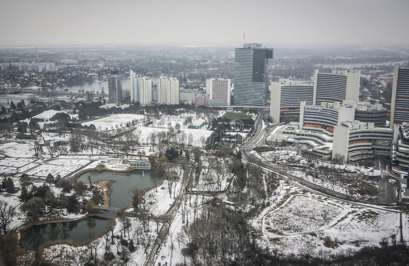 Vista panoramica di Vienna immagini stock libere da diritti
