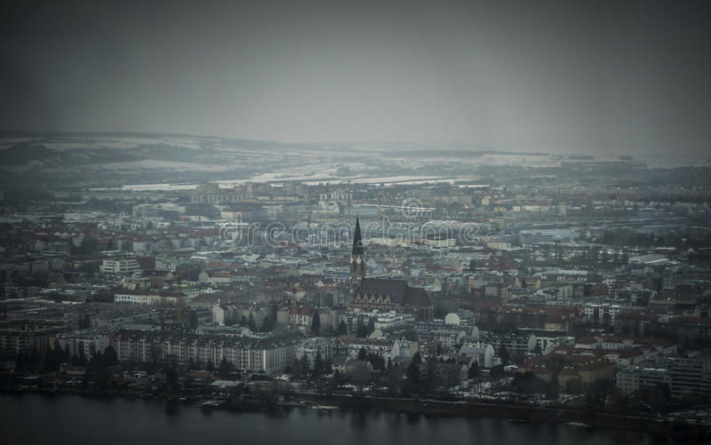Vista panoramica di Vienna immagini stock