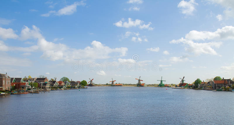 Vista panoramica di Zaanse Schans fotografie stock